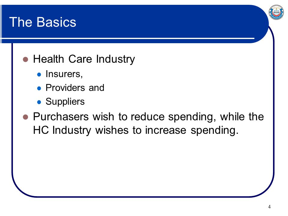 The Basics Health Care Industry