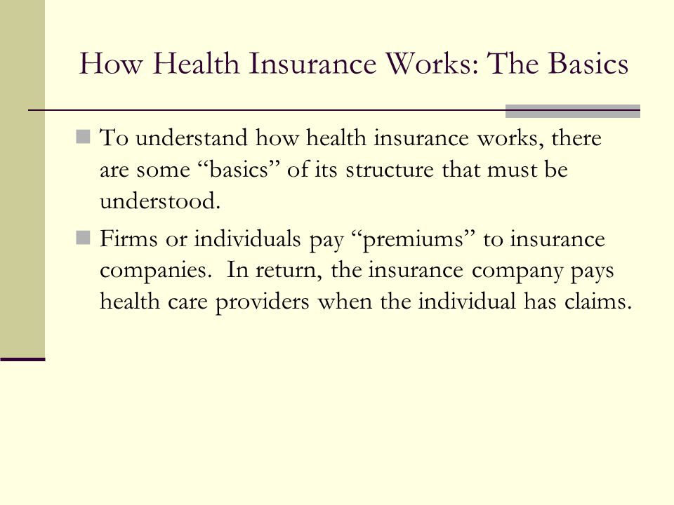 How Health Insurance Works: The Basics