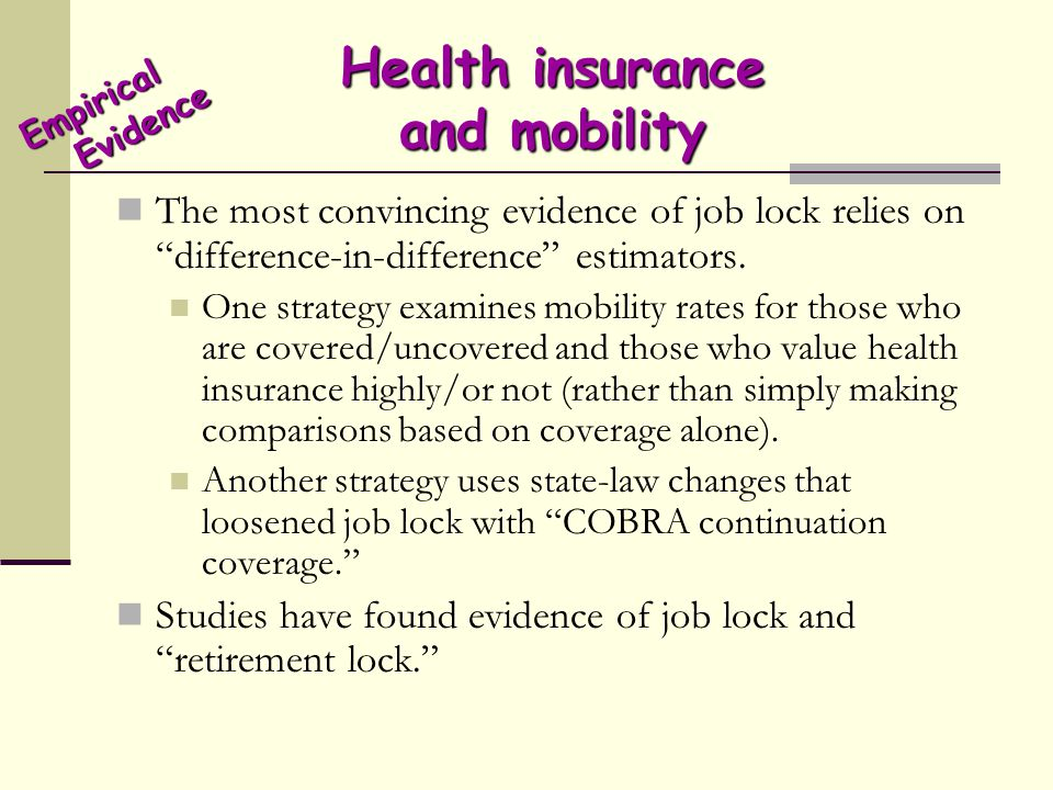 Health insurance and mobility