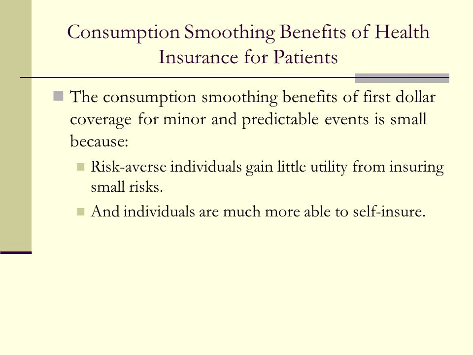 Consumption Smoothing Benefits of Health Insurance for Patients