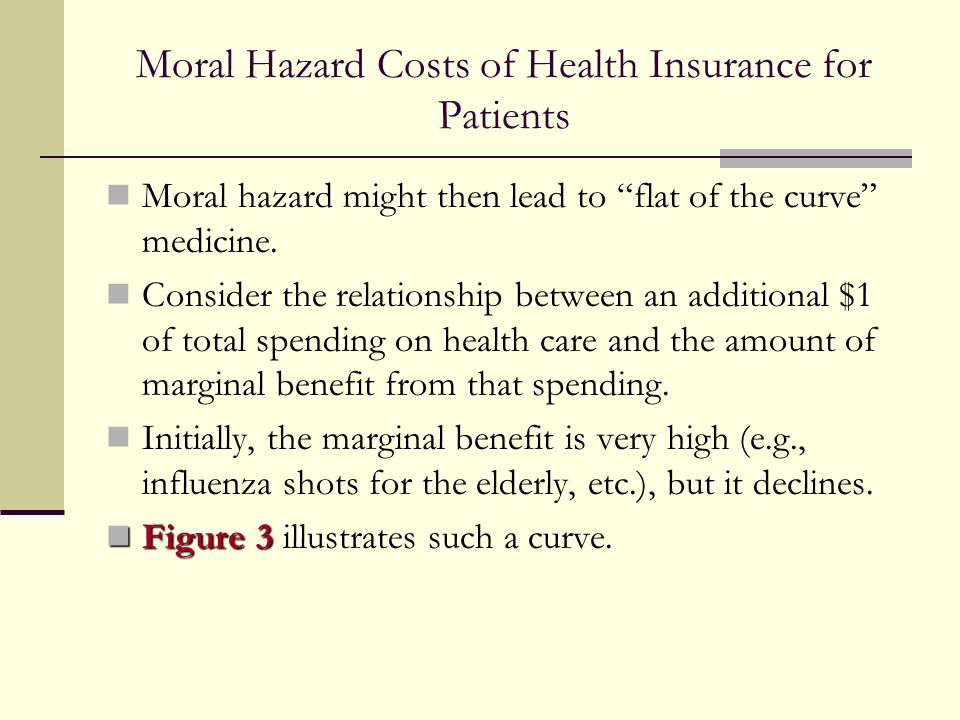 Moral Hazard Costs of Health Insurance for Patients