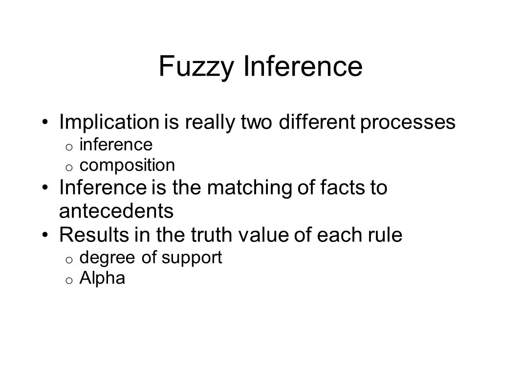 Fuzzy Inference Implication is really two different processes