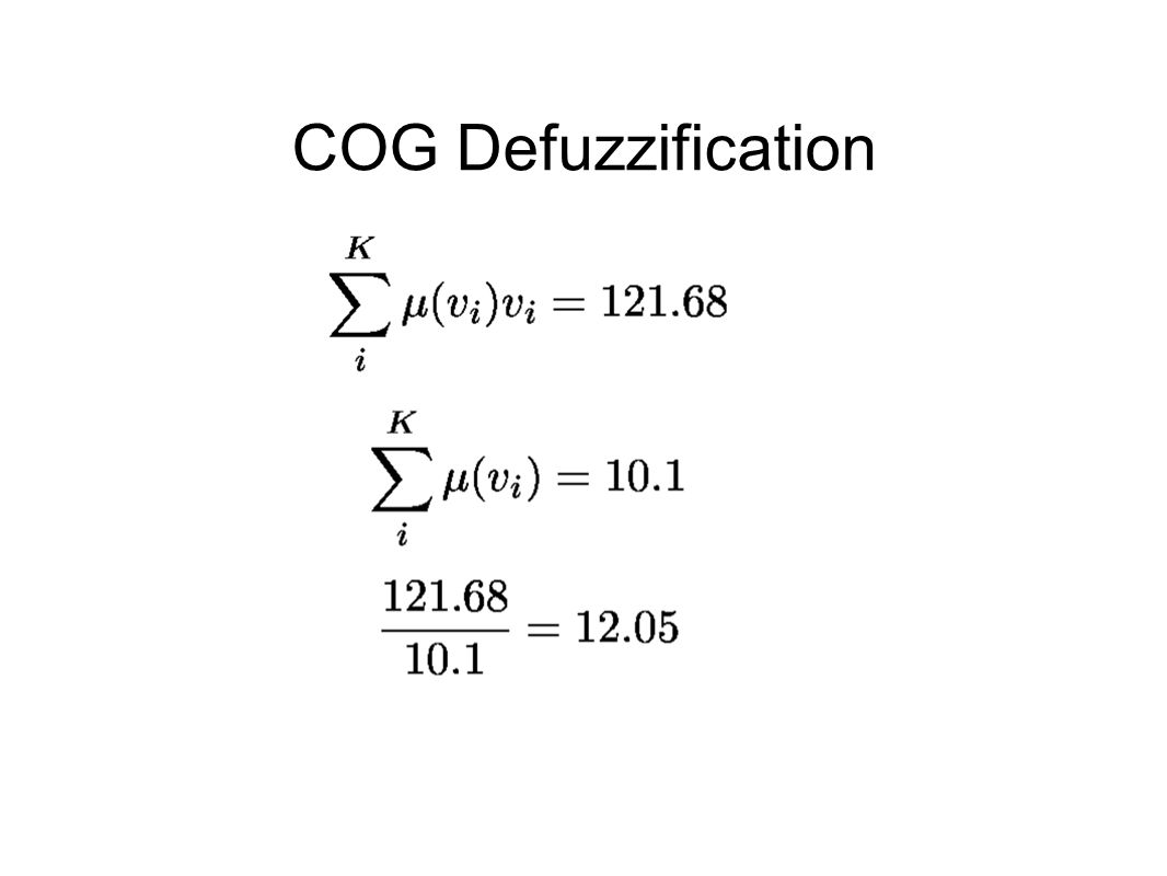 COG Defuzzification