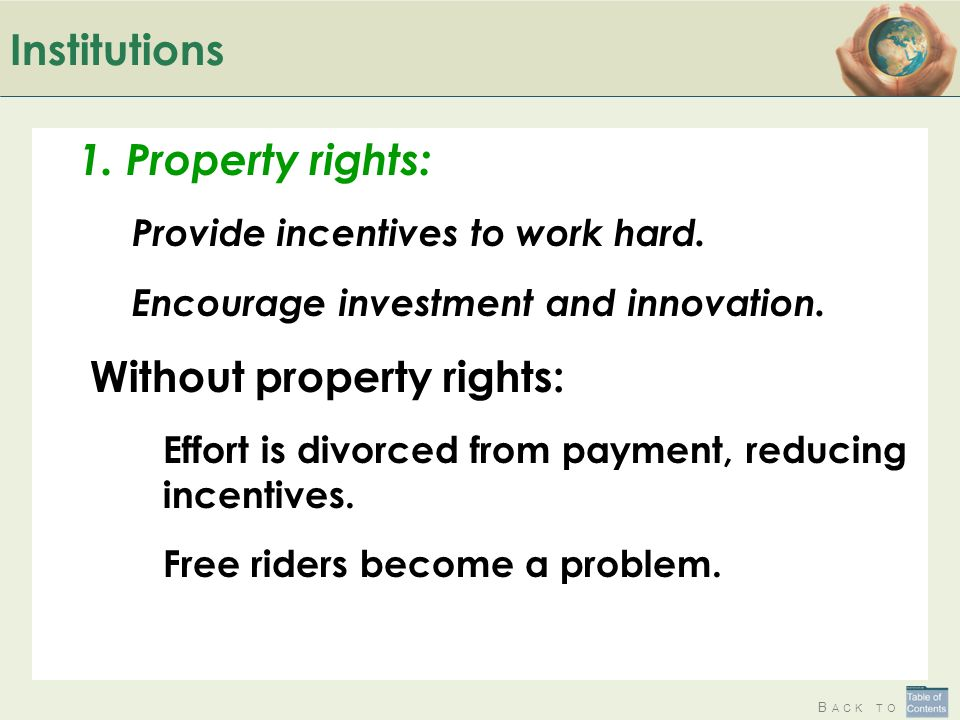 Without property rights: