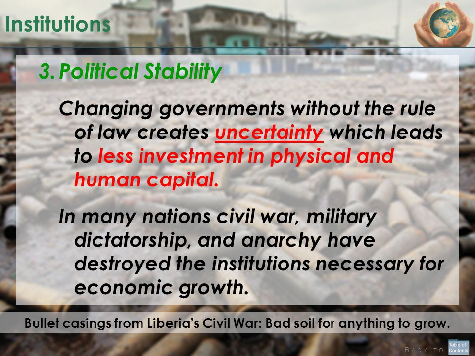 Institutions Political Stability