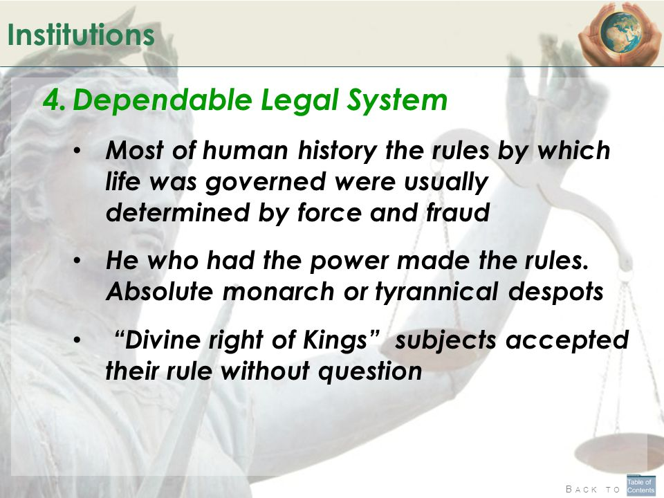 Dependable Legal System