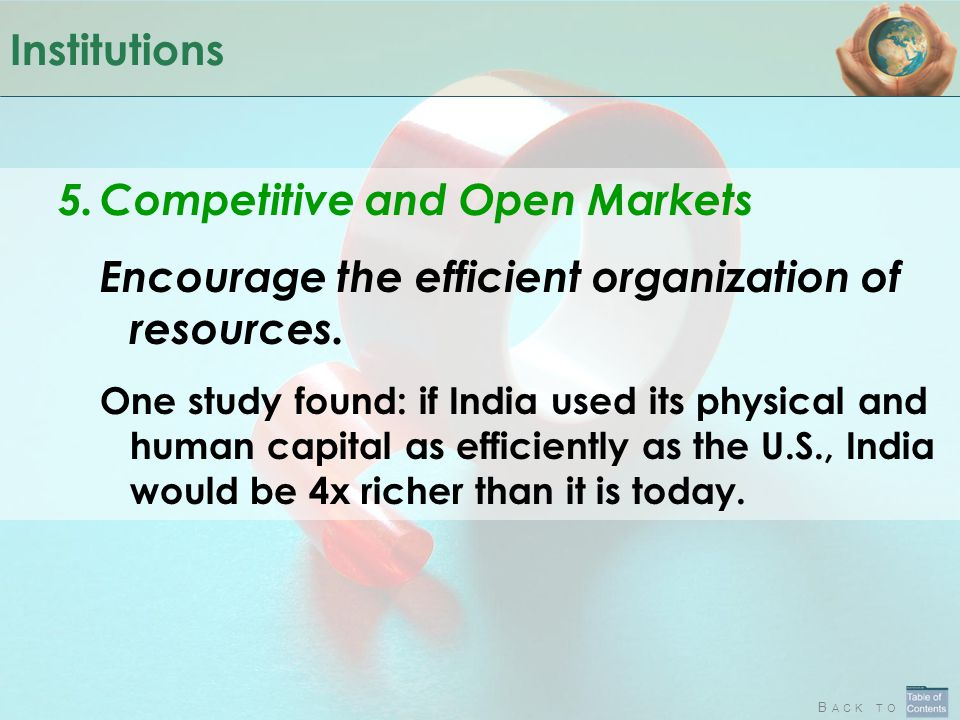 Competitive and Open Markets