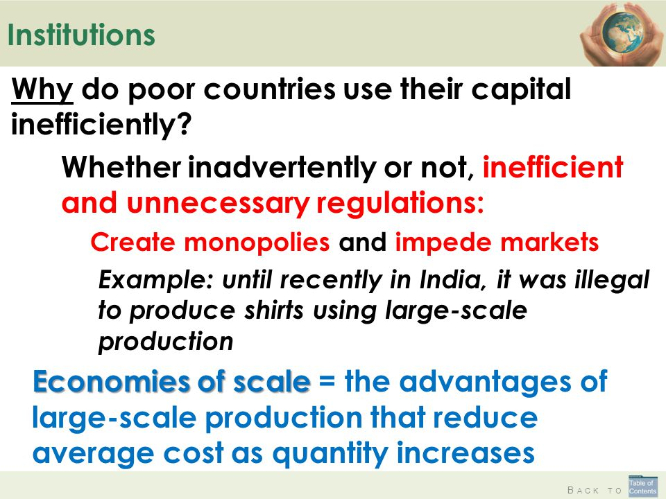 Why do poor countries use their capital inefficiently