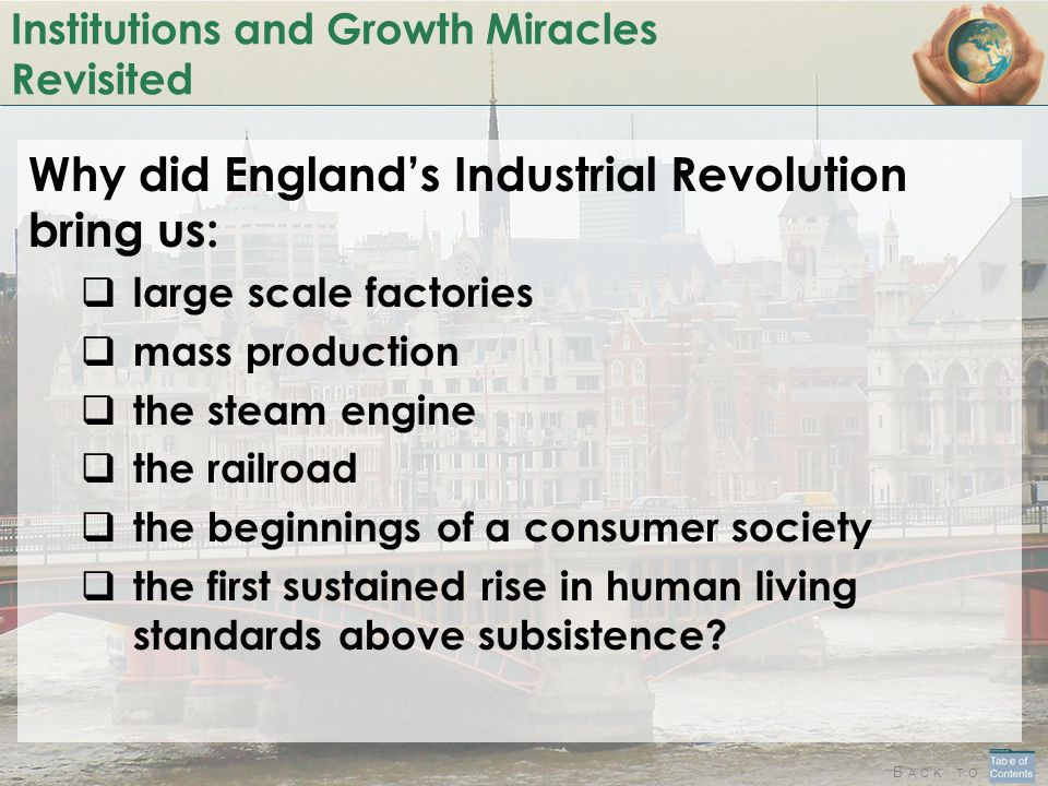 Institutions and Growth Miracles Revisited