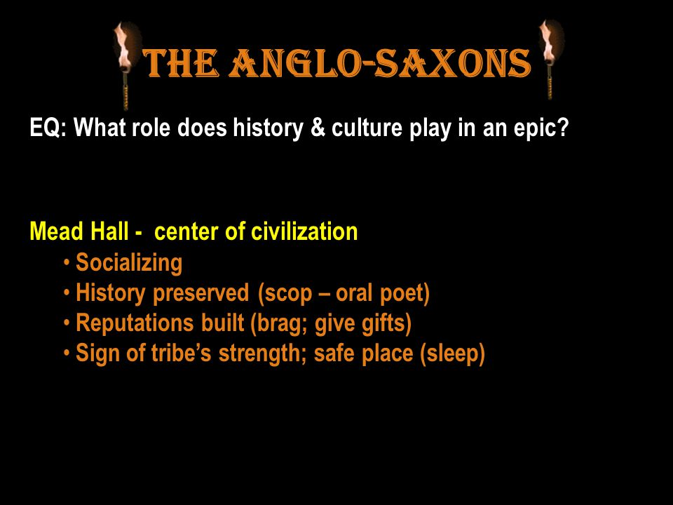 The Anglo-Saxons EQ: What role does history & culture play in an epic