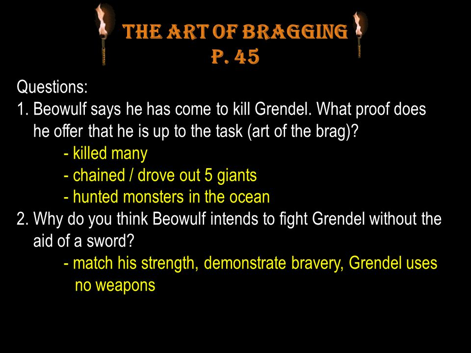 The Art of Bragging p. 45 Questions: