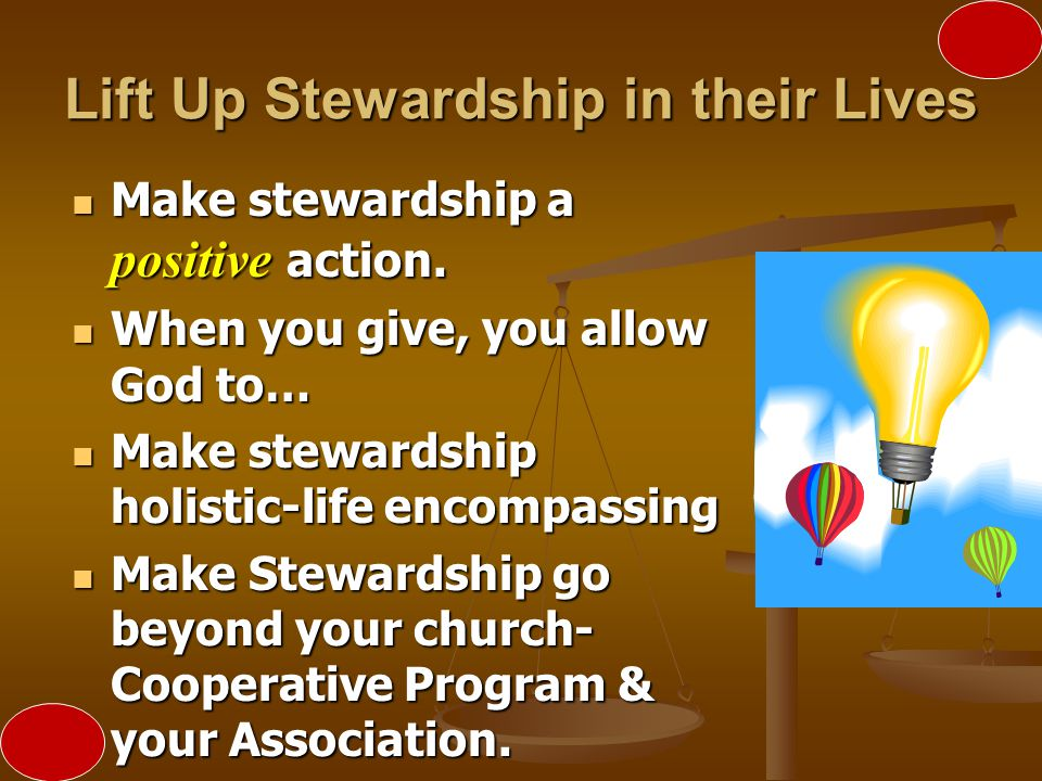 Lift Up Stewardship in their Lives