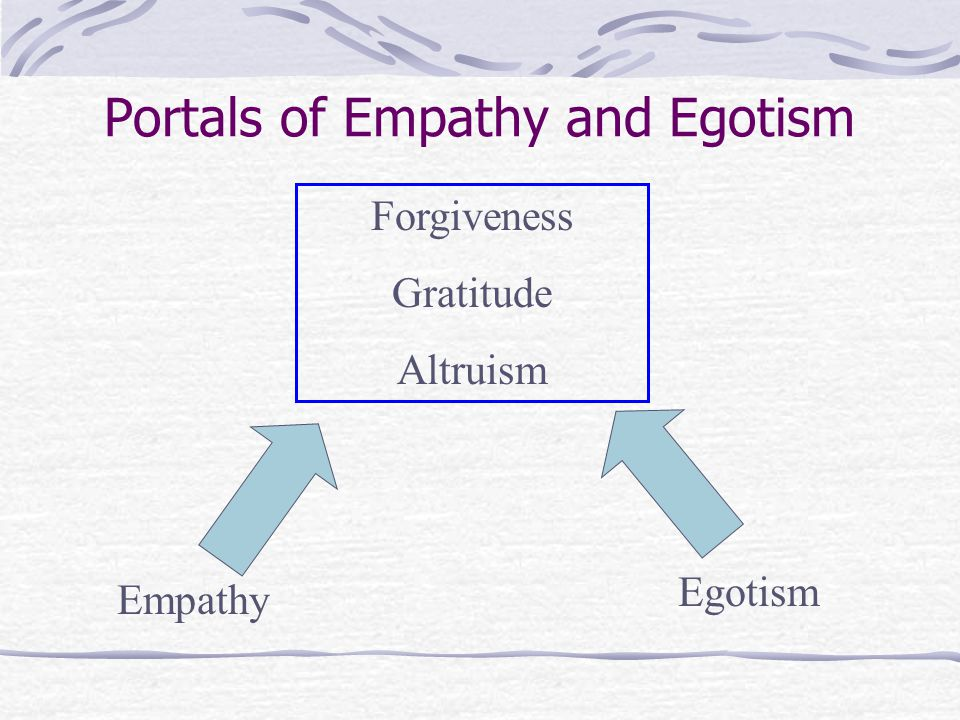 Portals of Empathy and Egotism