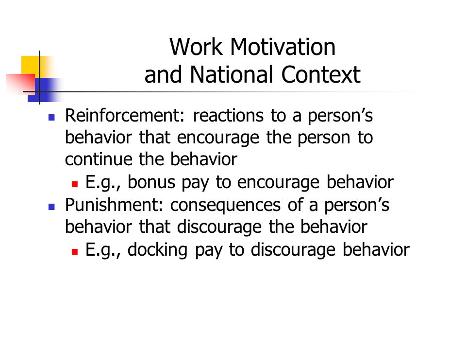 Work Motivation and National Context