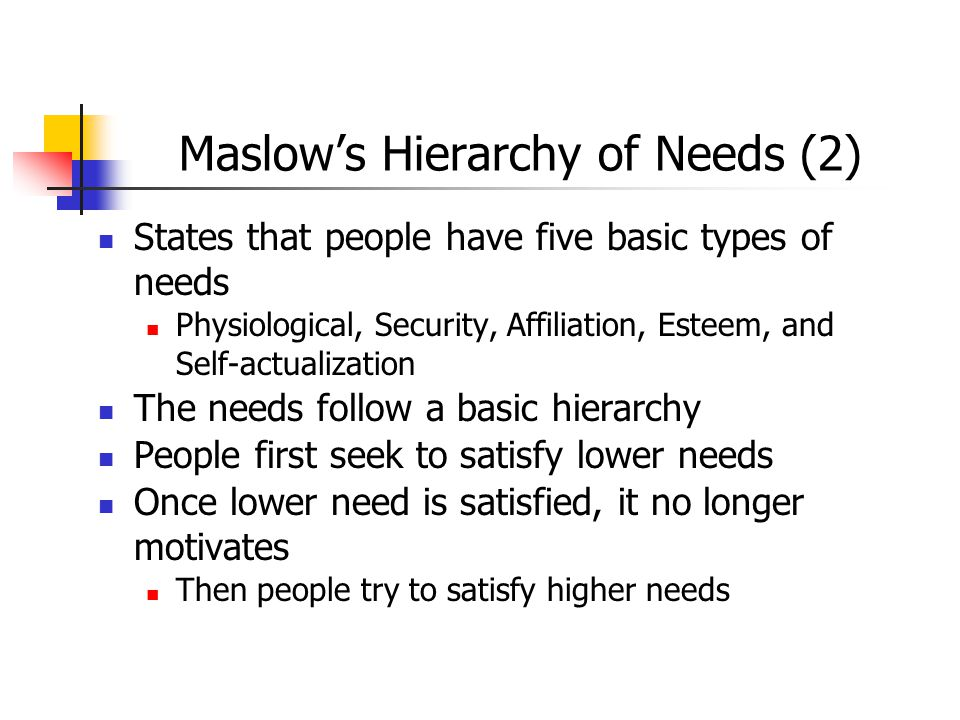 Maslow's Hierarchy of Needs (2)
