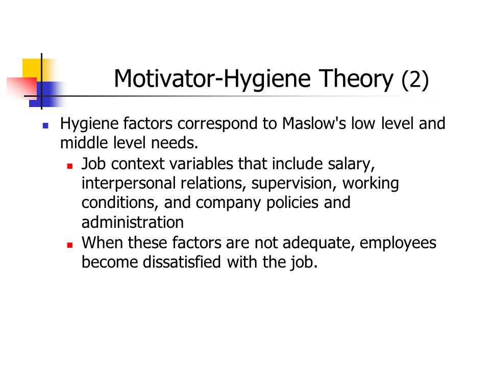 Motivator-Hygiene Theory (2)