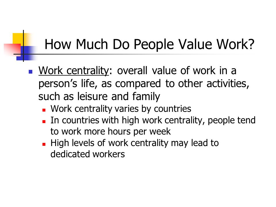 How Much Do People Value Work