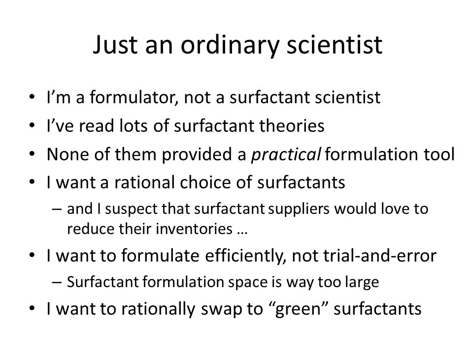 Just an ordinary scientist