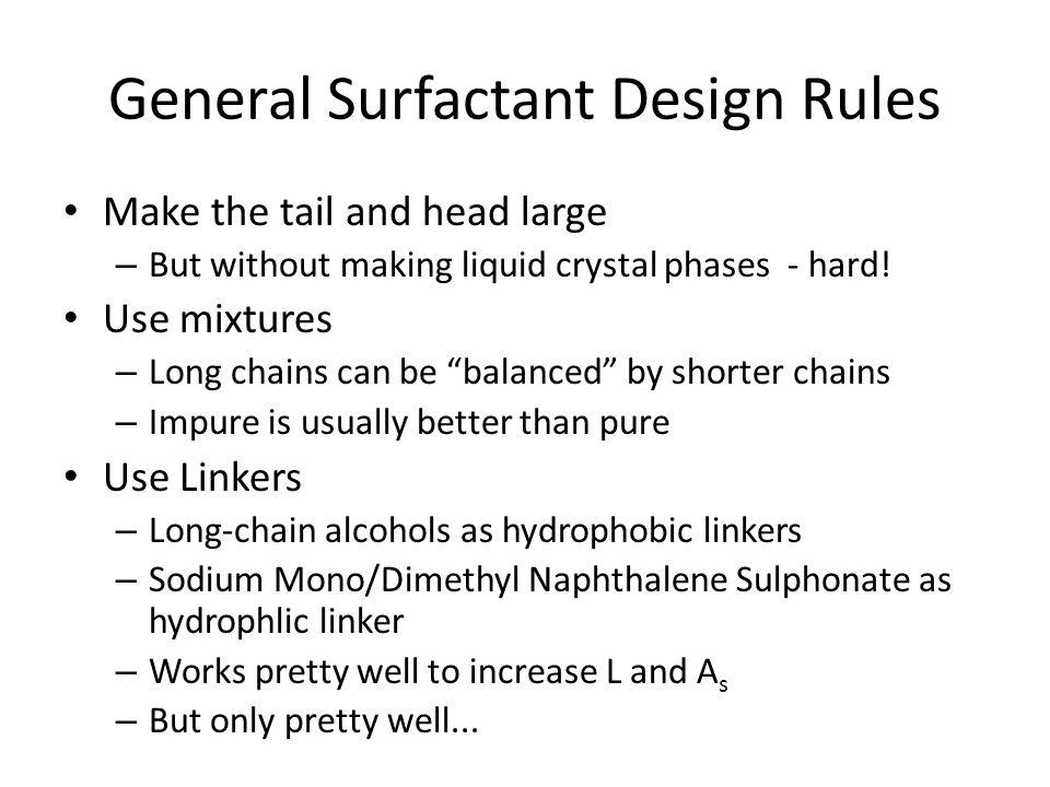General Surfactant Design Rules