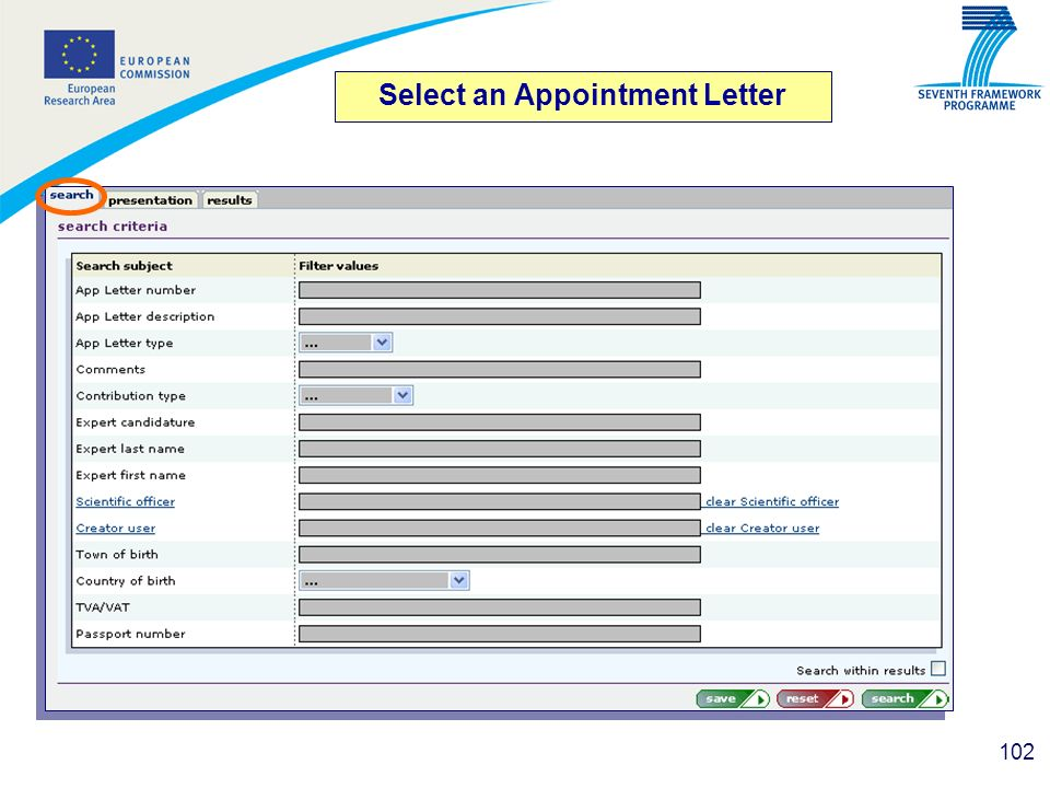 Select an Appointment Letter