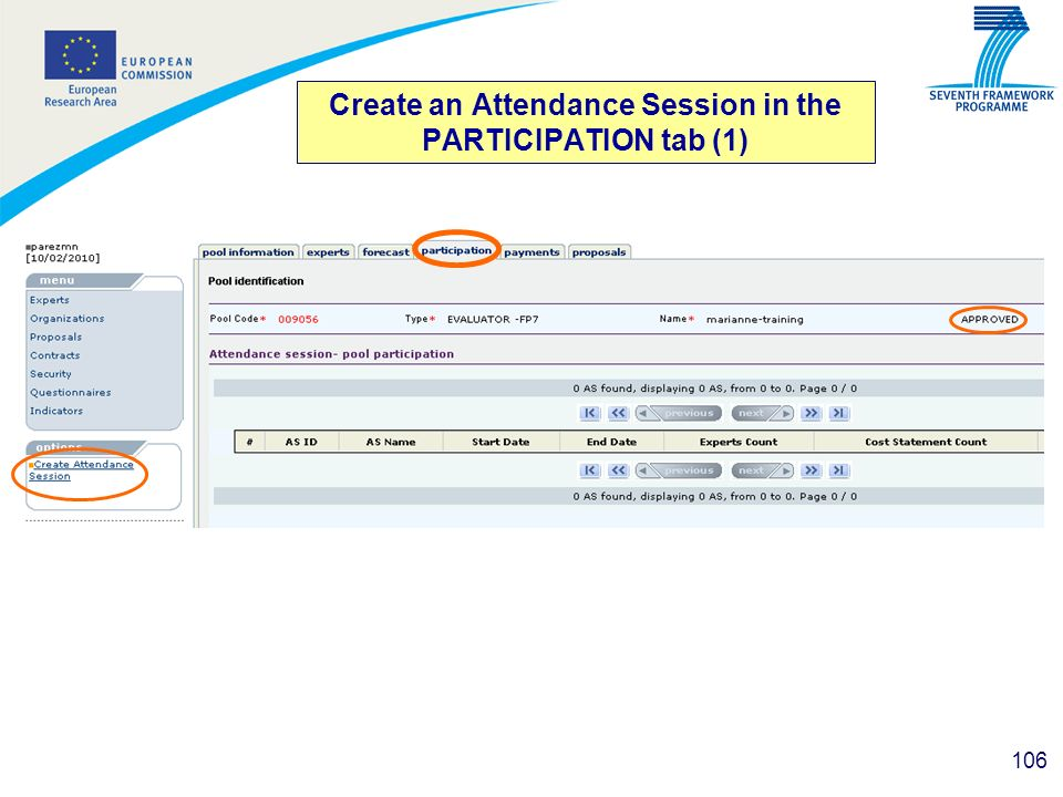 Create an Attendance Session in the PARTICIPATION tab (1)