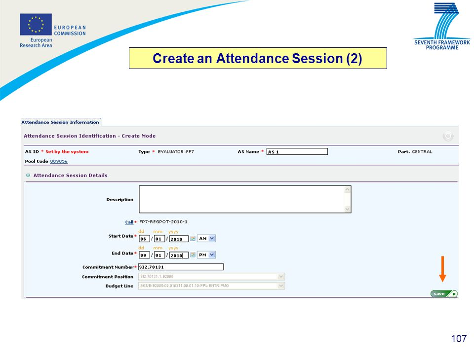 Create an Attendance Session (2)
