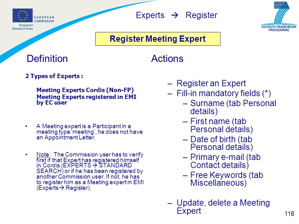 Register Meeting Expert