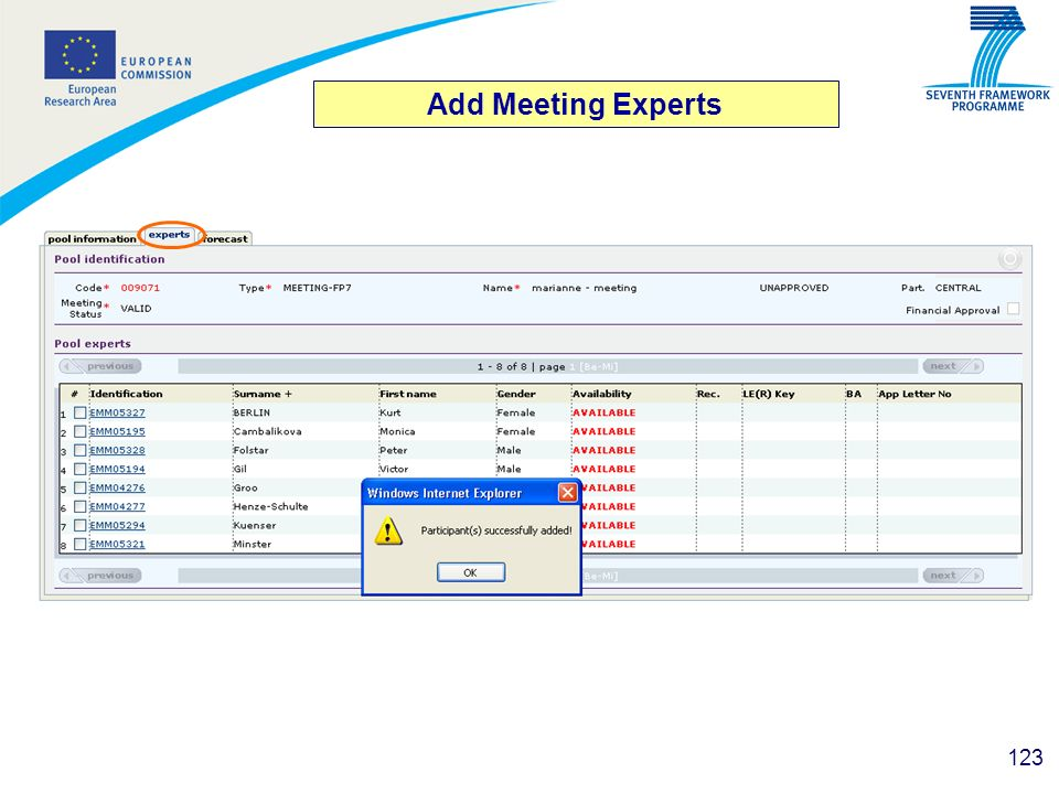 Add Meeting Experts