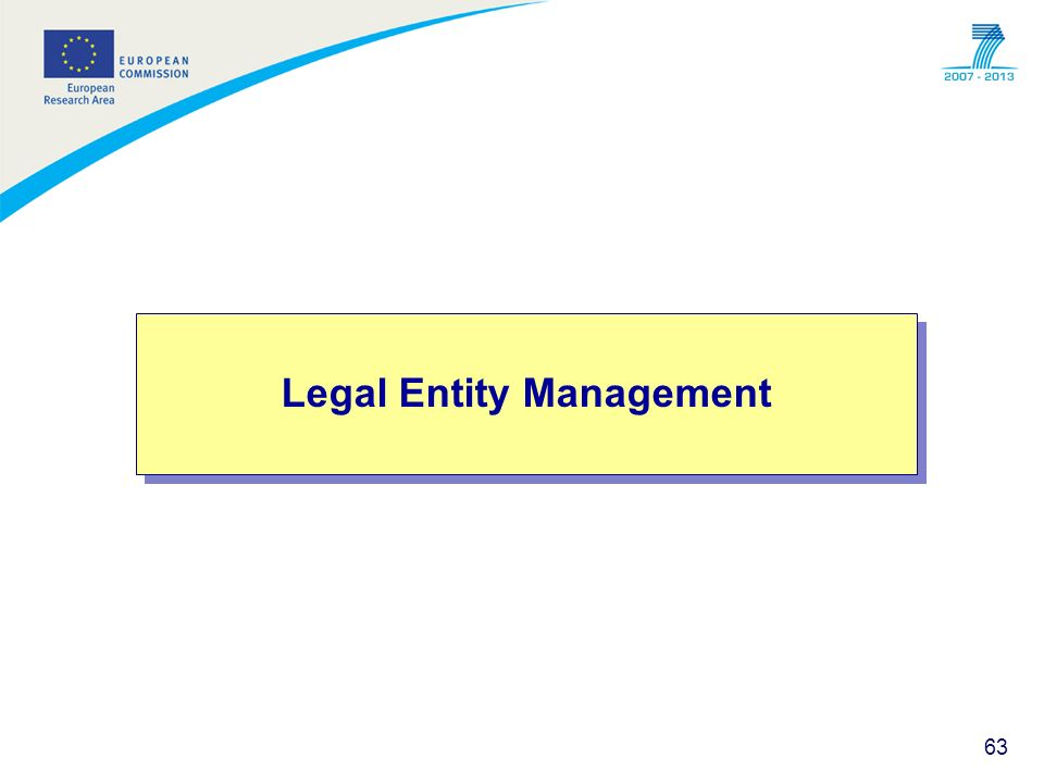 Legal Entity Management