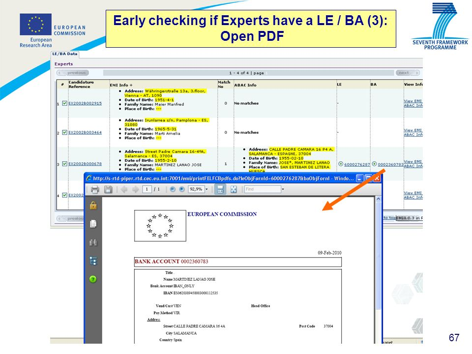 Early checking if Experts have a LE / BA (3): Open PDF