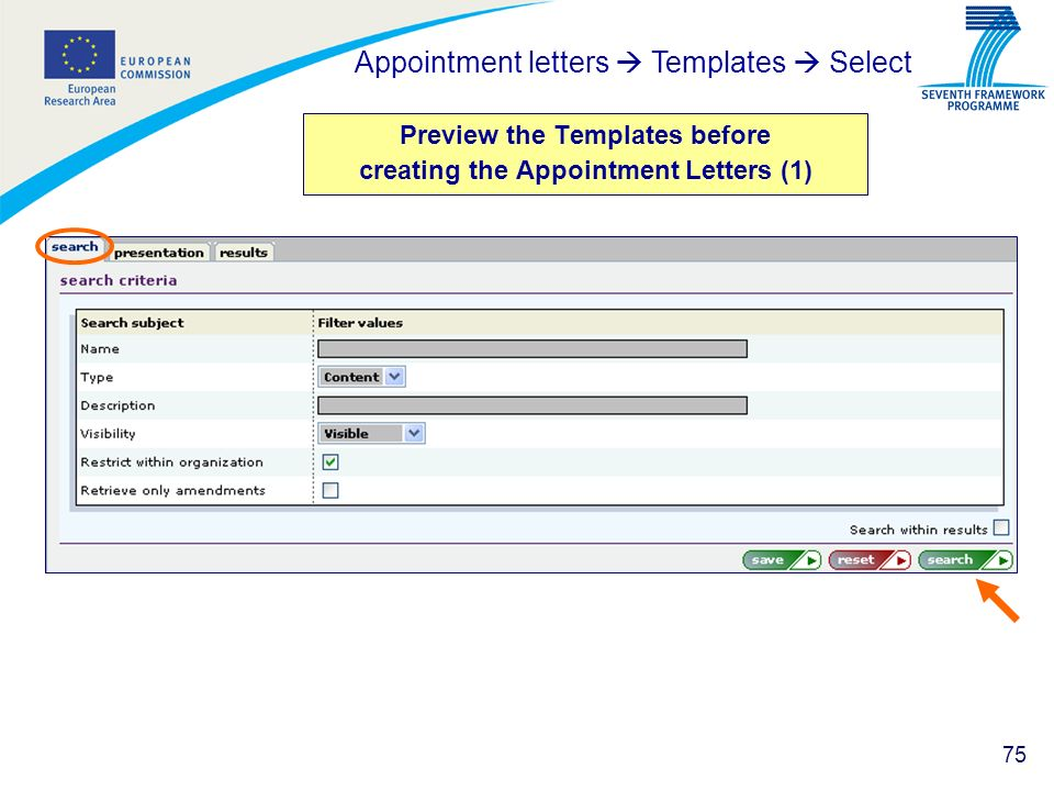 Preview the Templates before creating the Appointment Letters (1)