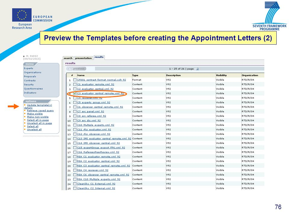 Preview the Templates before creating the Appointment Letters (2)