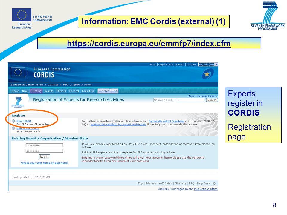 Information: EMC Cordis (external) (1)