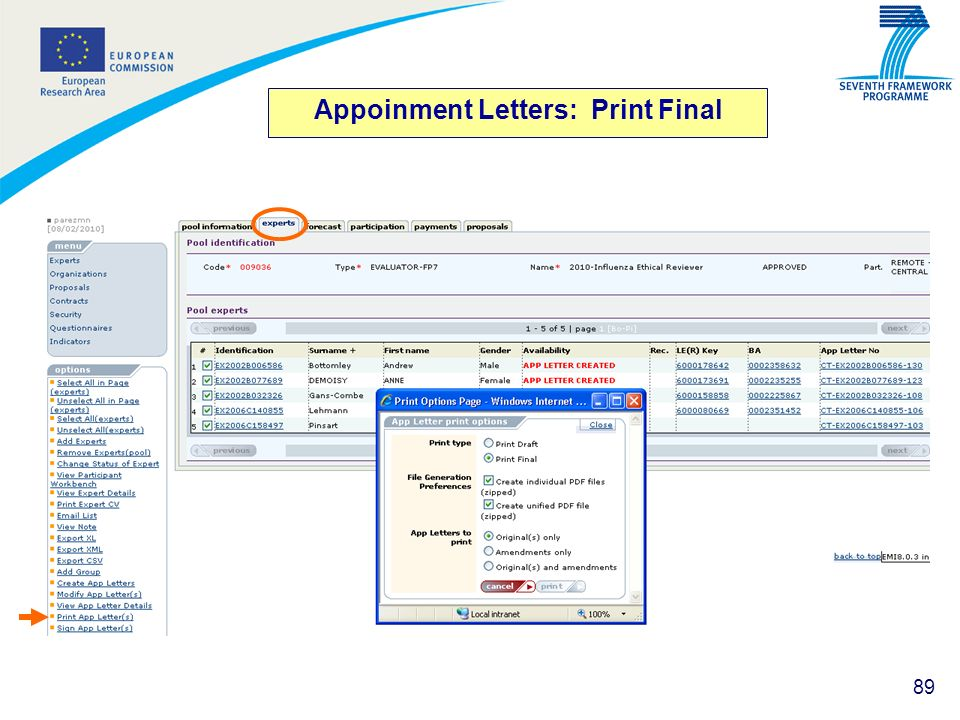 Appoinment Letters: Print Final
