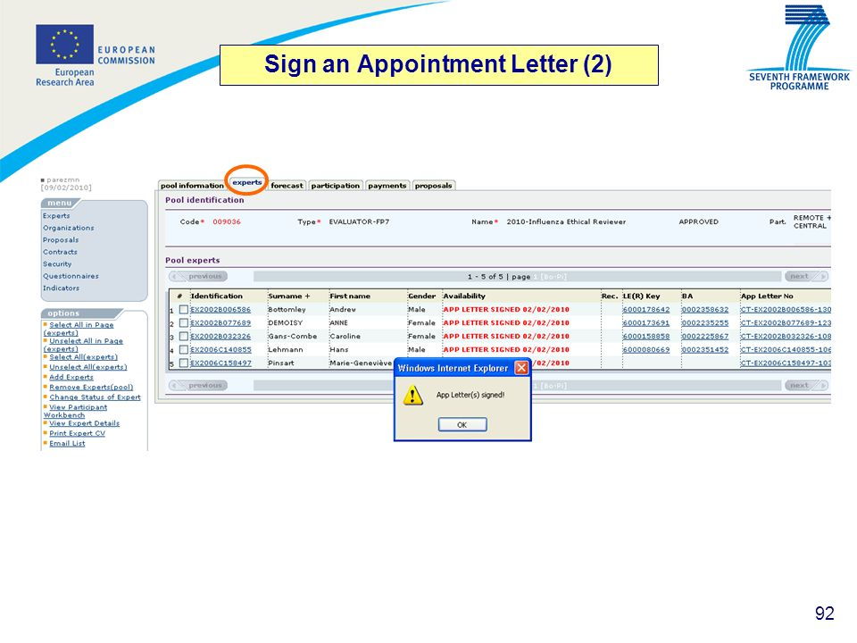 Sign an Appointment Letter (2)