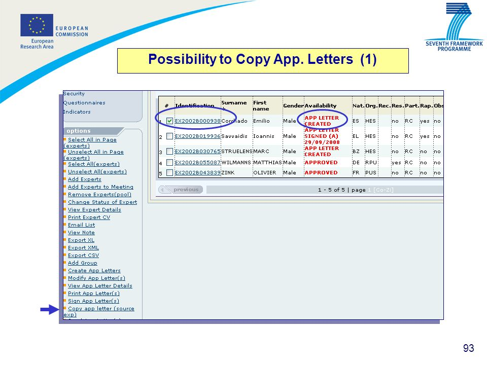 Possibility to Copy App. Letters (1)