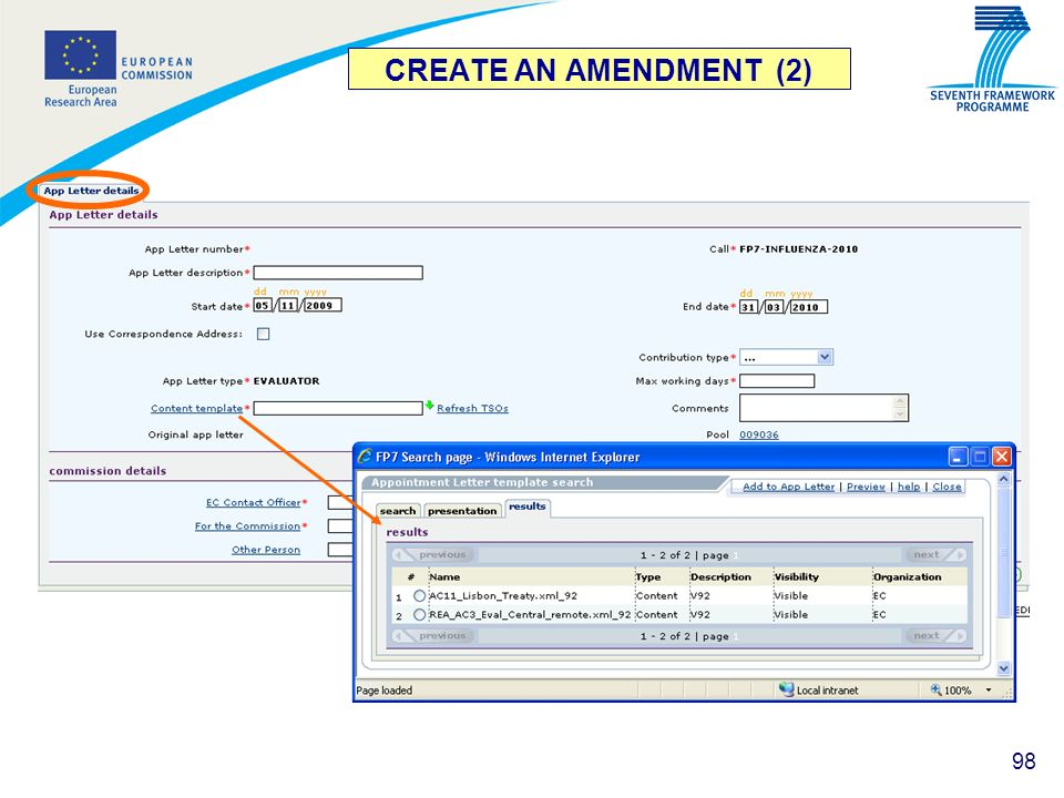 CREATE AN AMENDMENT (2)