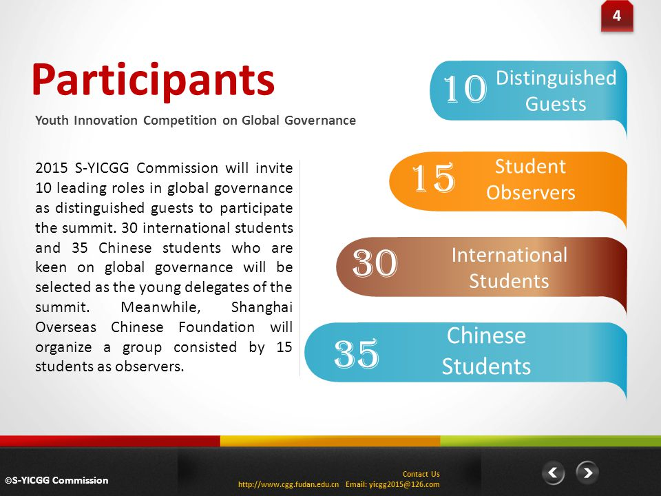 Participants 10 15 30 35 Chinese Students Distinguished Guests