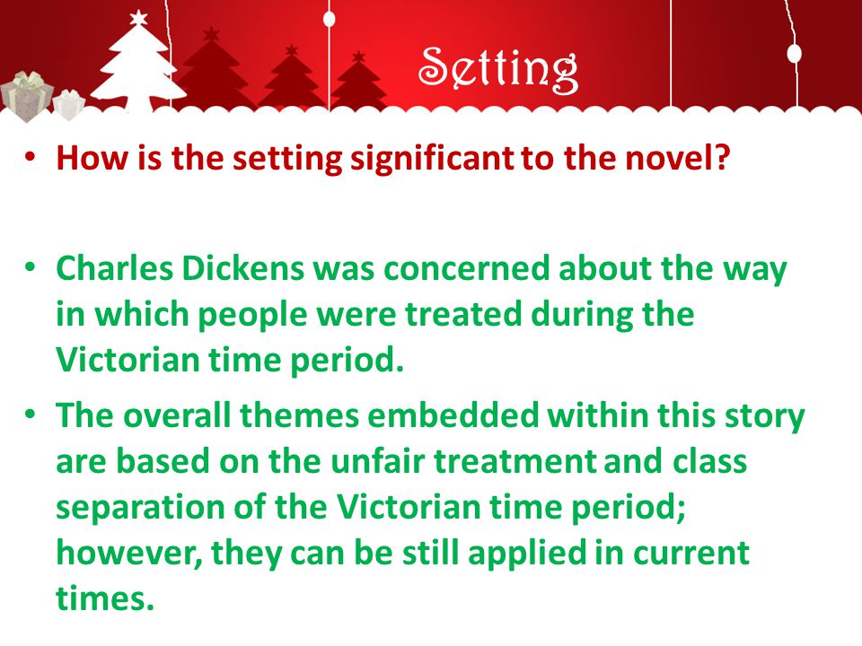 Setting How is the setting significant to the novel