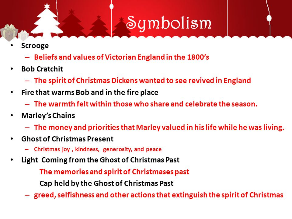 Symbolism Scrooge. Beliefs and values of Victorian England in the 1800's. Bob Cratchit.