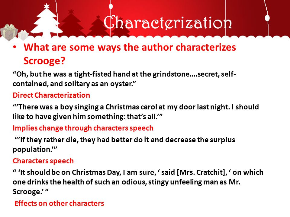 scrooges changing character essay The most motivation dickens provides for scrooge's character is his depiction of  him as a young boy neglected by his peers and, it appears,.