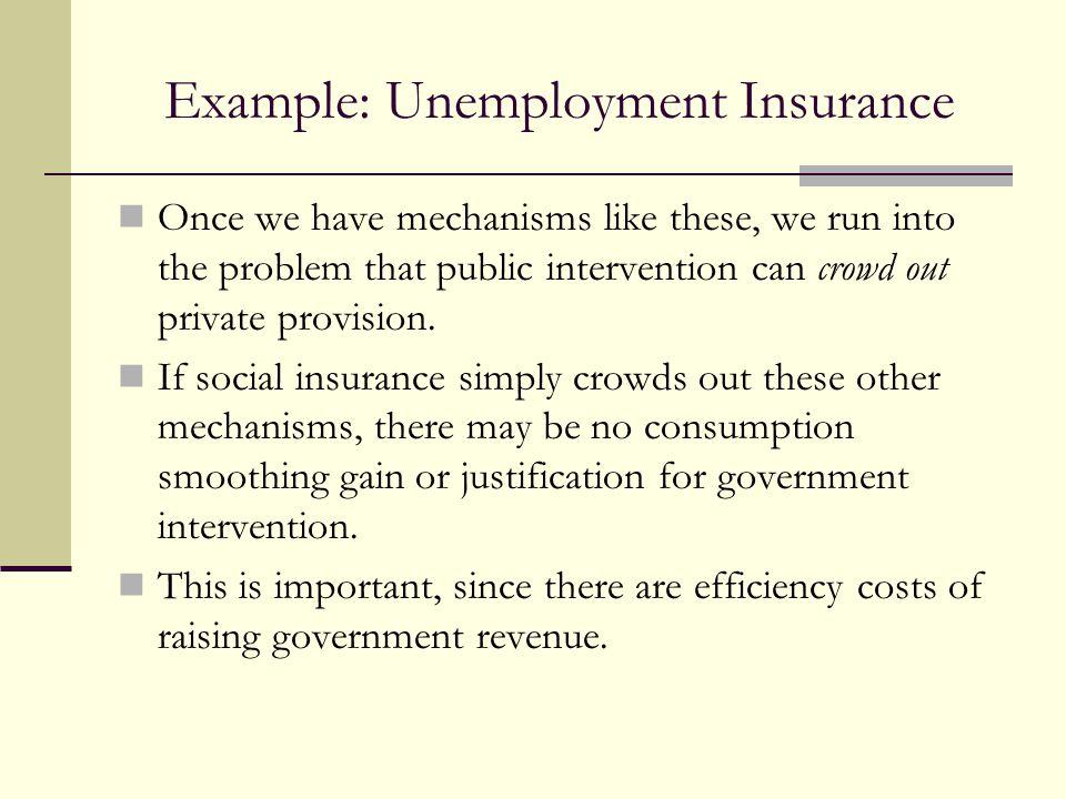 Example: Unemployment Insurance
