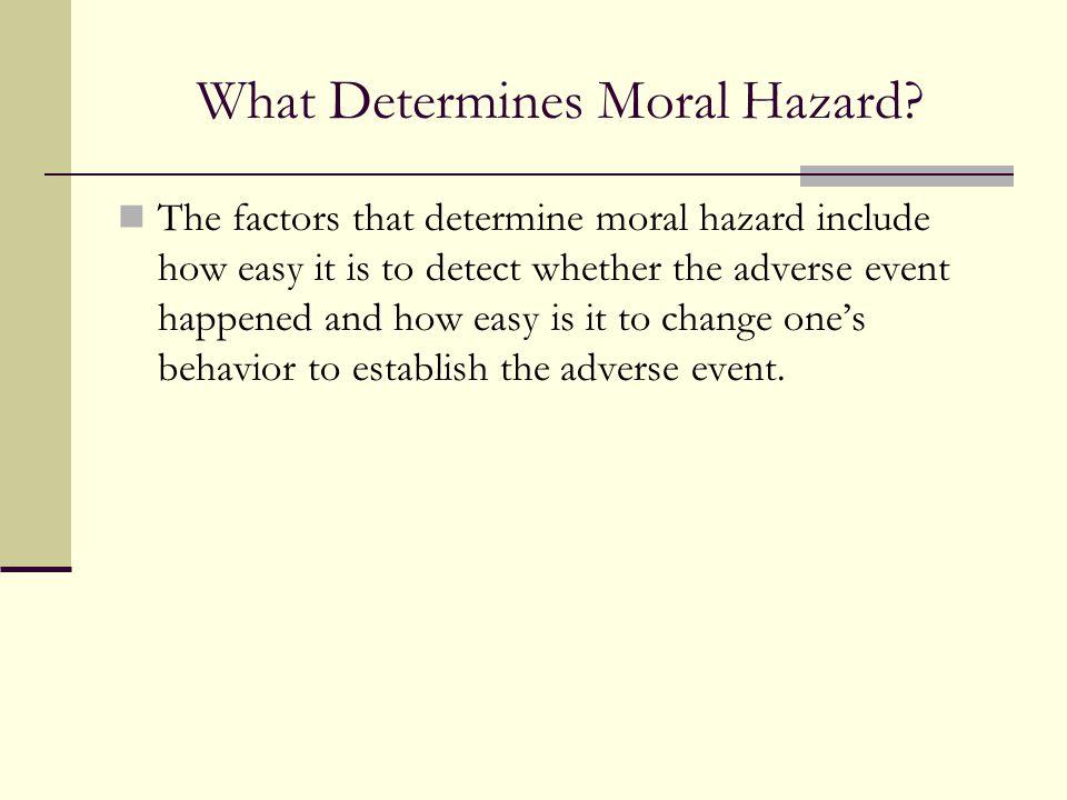 What Determines Moral Hazard