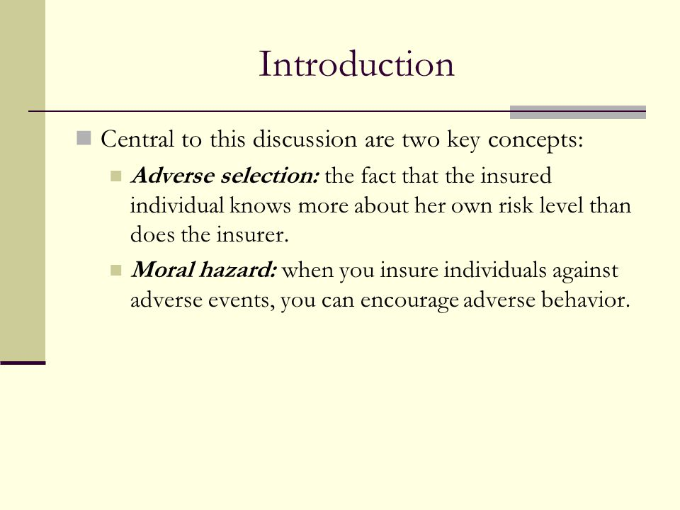 Introduction Central to this discussion are two key concepts: