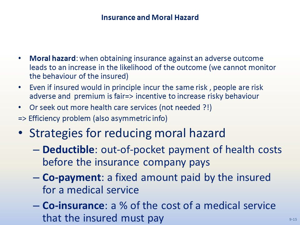 Insurance and Moral Hazard