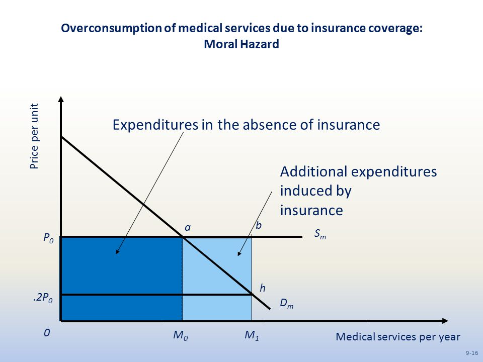 Expenditures in the absence of insurance