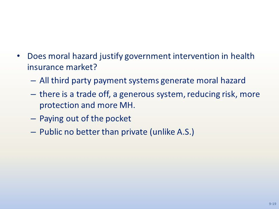 All third party payment systems generate moral hazard