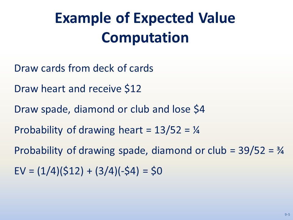 Example of Expected Value Computation