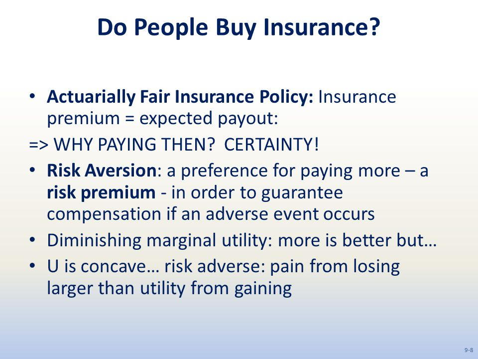 Do People Buy Insurance