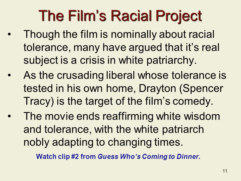 The Film's Racial Project